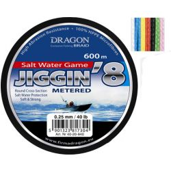 Шнур Dragon Salt Water Game JIGGIN*8 600m 0.38mm/80lb 7цв