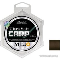 Леска Dragon MEGA BAITS UltraSoft CARP 300m 0.32mm 9.2kg