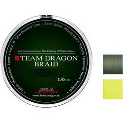 Шнур Dragon TEAM DRAGON 135m 0.12mm/10.40kg желтый флуо