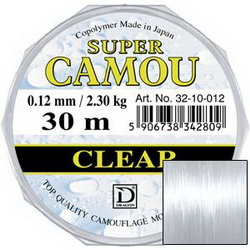 Леска Dragon SUPER CAMOU Clear 30m 0.10mm 1.65kg