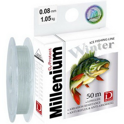 Зимняя леска Dragon Millenium Winter 0.20mm 50m 5,80kg