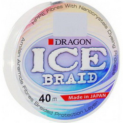Зимний шнур DRAGON ICE Braid 40m 0.14mm 12.90kg