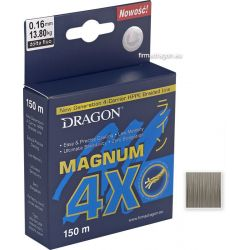 Шнур Dragon Magnum 4X 150m 0.08mm 6.00kg серый